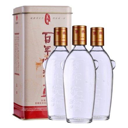 45°百年皖酒五年125ml(3瓶装)