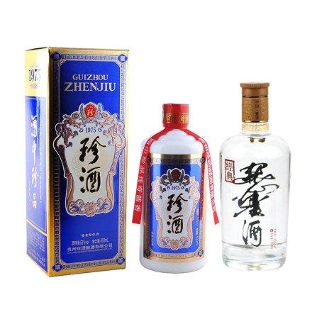 53°珍酒普通装500ml+(清仓)54°经典董酒500ml