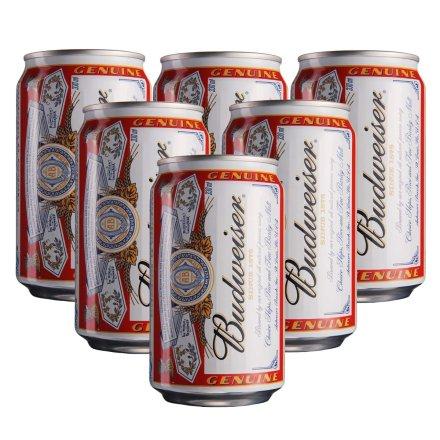 百威啤酒330ml(6瓶装)