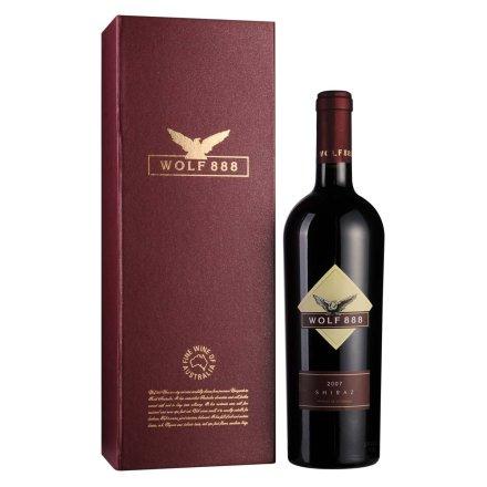 【清仓】澳洲詹姆士888西拉2007年干红葡萄酒红色礼盒750ml