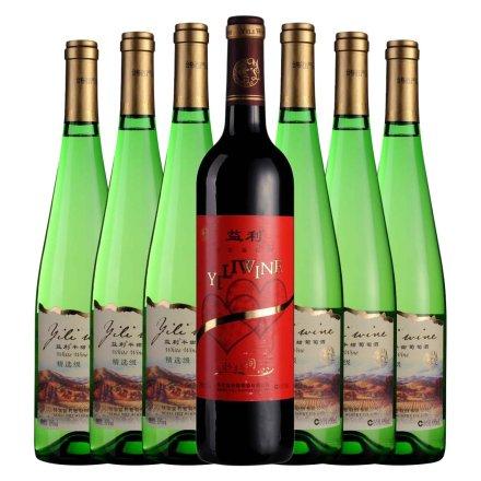 益利精选级半甜葡萄酒*6+益利永结同心干红葡萄酒