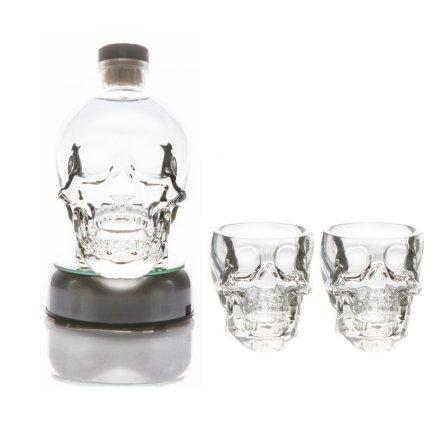 40°水晶头骨伏特加双支酒杯底座套装(套装错误勿用)