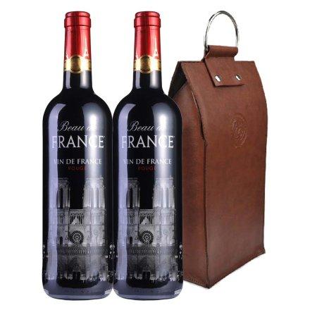 法国荣耀干红葡萄酒(圣母院)双支皮袋装