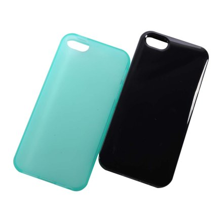 SGP CASE 苹果iPhone5 纯色手机保护套 (黑色/绿色)