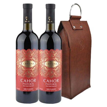 摩尔多瓦卡奥甜红葡萄酒双支皮袋装