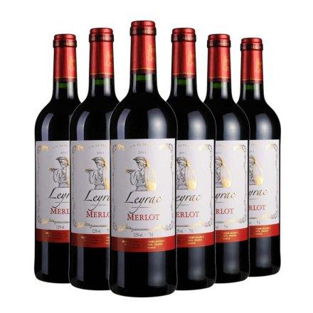 法国丽哈克梅洛干红葡萄酒750ml(6瓶装)