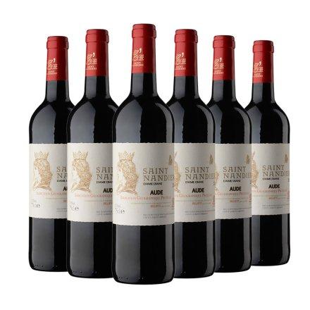 法国圣男雅黛迪亚圣女干红葡萄酒750ml(6瓶装)