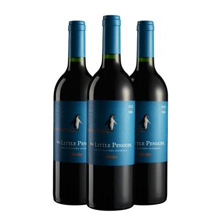 澳大利亚小企鹅梅洛红葡萄酒(3瓶装)