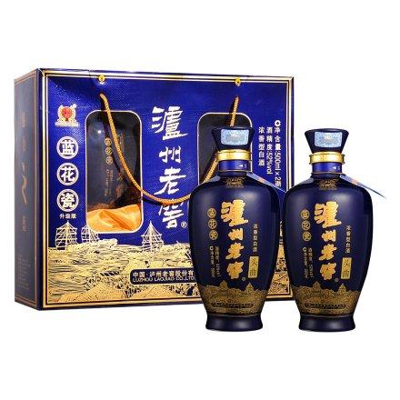 52°泸州老窖头曲蓝花瓷升级版双瓶礼盒(500ml*2)