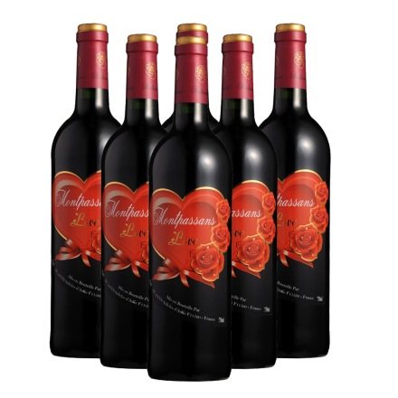 法国莫泊桑挚爱干红葡萄酒750ml(6瓶装)