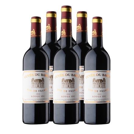 法国芭珑伯爵红葡萄酒750ml(6瓶装)重复勿使用