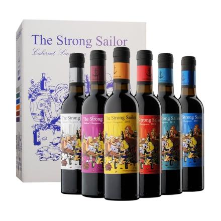 【清仓】12.5°澳洲詹姆士漂客水手2013赤霞珠干红葡萄酒375ml*6