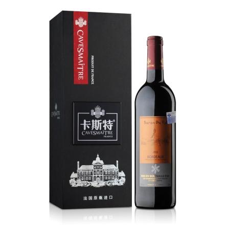 12.5°法国卡斯特帝亚波尔多干红葡萄酒750ml