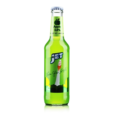 3.8°杰特朗姆预调酒苹果味275ml