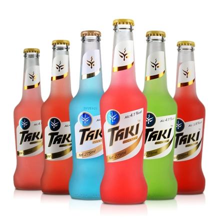TAKI鸡尾酒(预调酒)炫彩纯情装275ml(6瓶套)6款口味随机发放