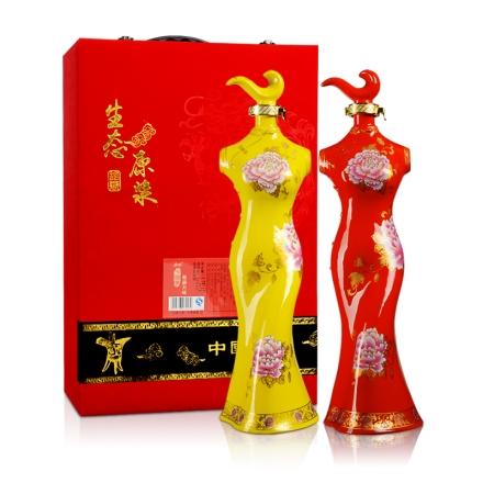 52°青竹中国风-雅韵天成(红和黄)礼盒装1750ml*2