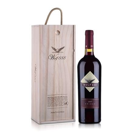13.5°澳洲禾富888西拉2007干红葡萄酒木盒装750ml