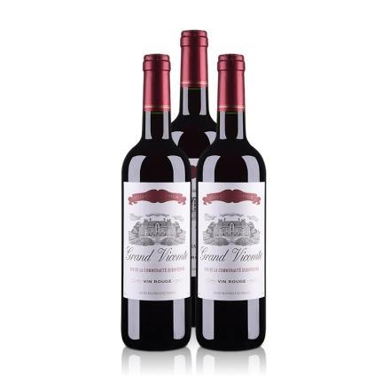 法国红酒套装维克特干红葡萄酒750ml(3瓶装)