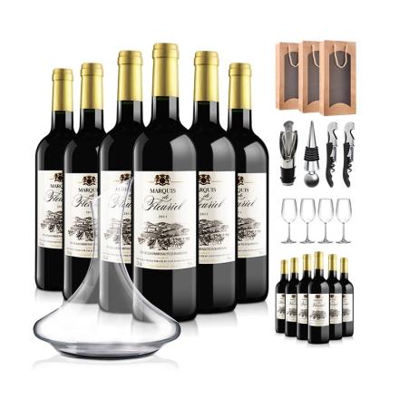 法国富乐男爵干红葡萄酒豪华大礼包