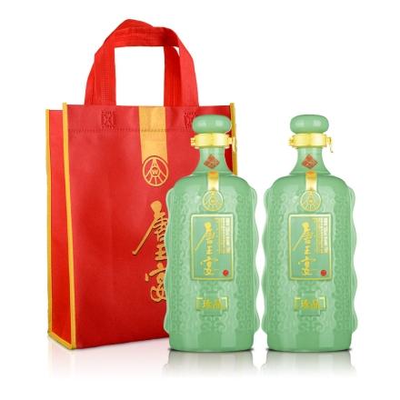 【周末特惠】52°五粮液(股份)唐王宴珍品750ml(双瓶装)+唐王宴手提袋