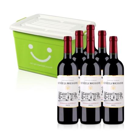 法国慕萨特庄园干红葡萄酒750ml(6瓶)+加厚整理箱20L(乐享)