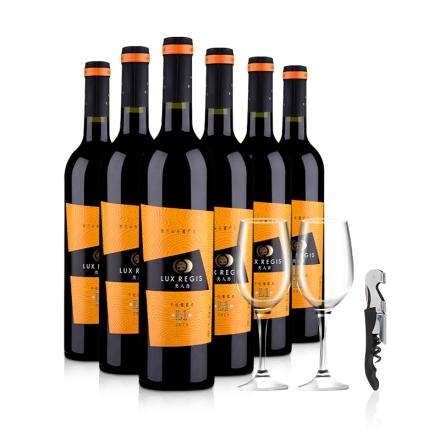 中国宁夏类人首L1干红葡萄酒750ml(6瓶装)酒杯酒刀