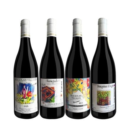 法国博若莱新酒(诺莱雅干红+芙勒干红+博勒治干红+圣维夫干红)