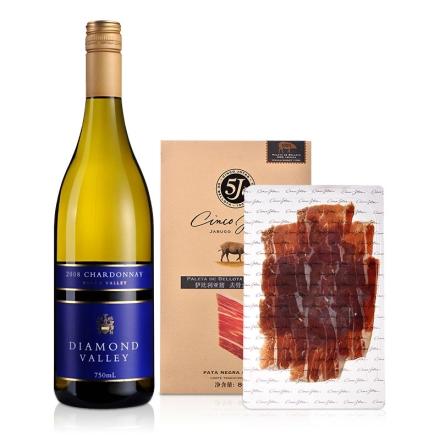 澳大利亚朗翡洛钻石谷莎当妮干白葡萄酒750ml+5J纯正伊比利亚全橡果前腿切片