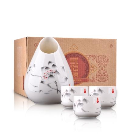 三人炫陶瓷酒具
