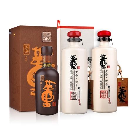 54°董酒何香750ml(双瓶装)+54°特级国密董酒500ml