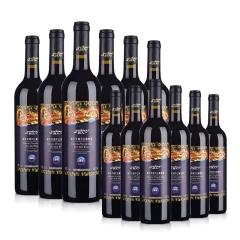 整箱红酒中国新疆新天天赐蓝标干红葡萄酒畅享12支装