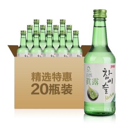 17°自然真露360ml(20瓶装)
