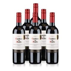 智利整箱红酒智利干露红魔鬼卡本妮苏维翁红葡萄酒750ml(又名:智利干露红魔鬼赤霞珠红葡萄酒750ml)(6瓶装)