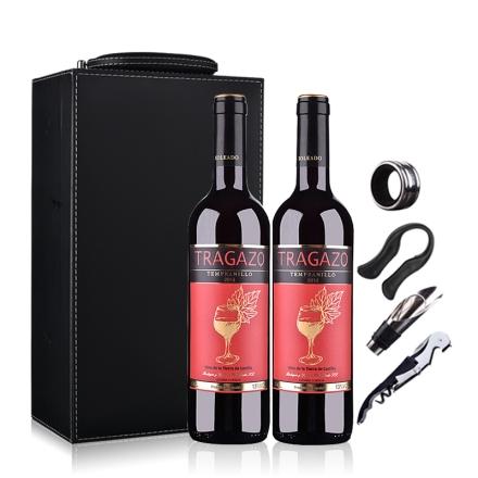 西班牙(原瓶进口)醉爱干红葡萄酒750ml*2(双支皮盒套装)