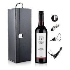 澳大利亚桉柏卡本妮西拉梅洛红葡萄酒750ml+黑色单支皮盒