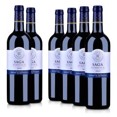 法国整箱红酒拉菲传说 2015 波尔多法定产区红葡萄酒750ml(6瓶装)