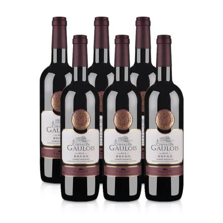 法国高卢骑士干红葡萄酒(6瓶装)送酒刀