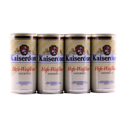 凯撒白啤酒1l(4听装)