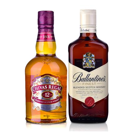 【超级加价购】芝华士12年威士忌500ml+百龄坛500ml