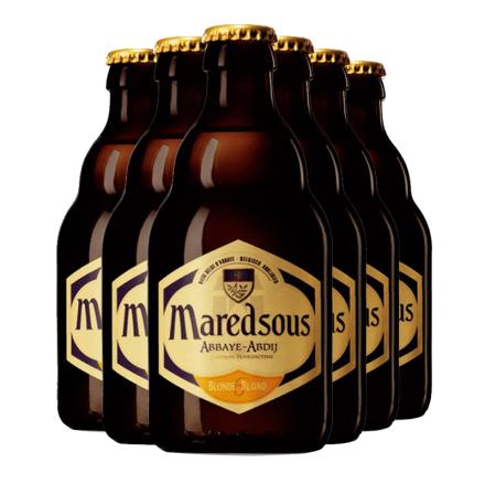 比利时进口马里斯6度啤酒马杜斯修道院(Maredsous)330ml*6