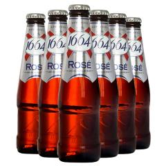 进口啤酒 法国克伦堡凯旋1664玫瑰啤酒桃子风味 250ml*6瓶