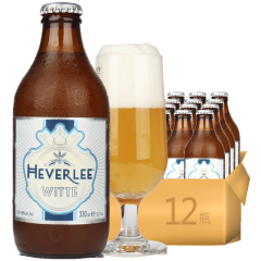 比利时进口白啤海弗莱小麦白啤酒330ml(12瓶装)