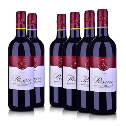 【周末特辑】法国整箱红酒法国拉菲珍藏波尔多红葡萄酒750ml*6