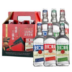 42°永丰北京二锅头出口型小方瓶清香型白酒500ml*6(礼盒装三种标色随机发货)