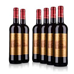 法国整箱红酒法国(原瓶进口)伊梵尼城堡波尔多干红葡萄酒750ml(6瓶装)