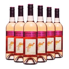 澳大利亚原装进口 黄尾袋鼠幕斯卡桃红半甜葡萄酒750ml*6
