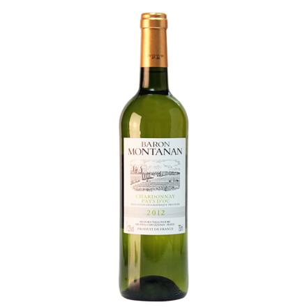 法国进口 源自奥克产区莫塔那 莎当妮白葡萄酒干白750ml