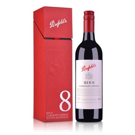 澳大利亚奔富酒园BIN8红葡萄酒750ml(单支礼盒装)