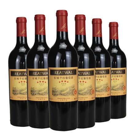 长城干红四星葡萄酒梅鹿辄(Merlot)750ml(6瓶装)