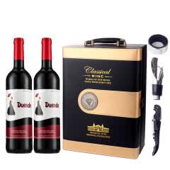 法国.德雯蒂干红葡萄酒红酒礼盒豪华皮盒装750ml*2